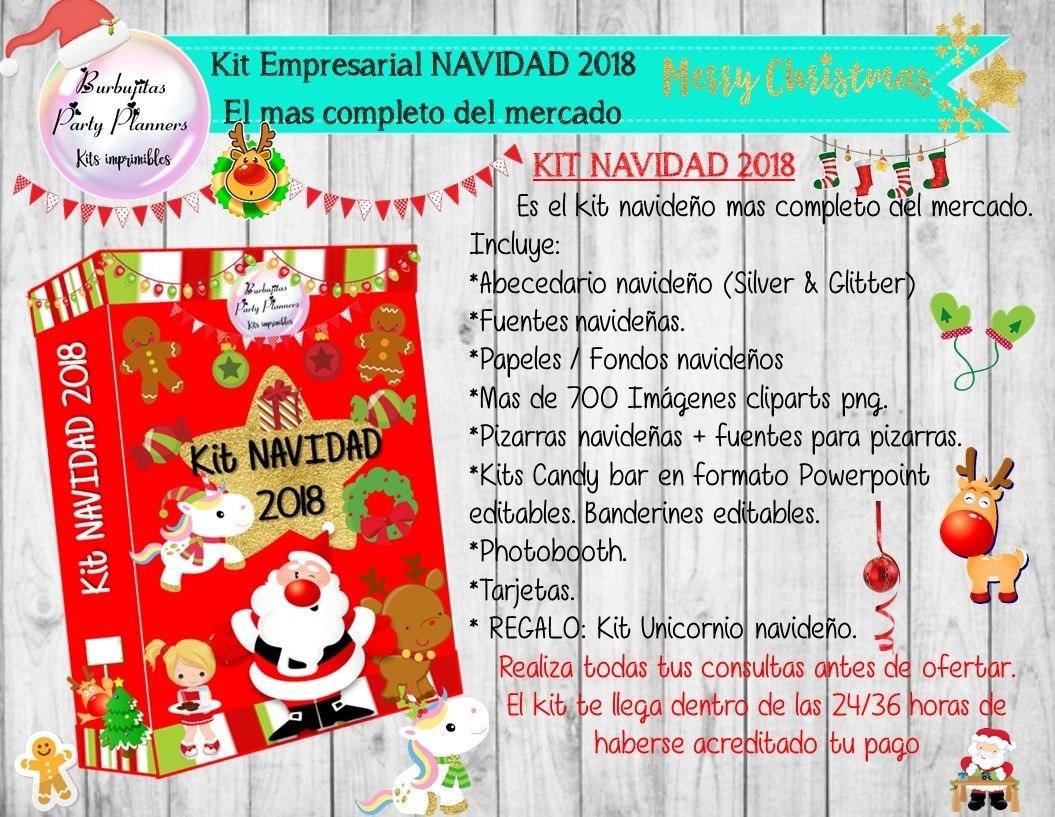 9662ff40793bf Kit Pack Empresarial Navidad 2018 - Unico En El Mercado -   100