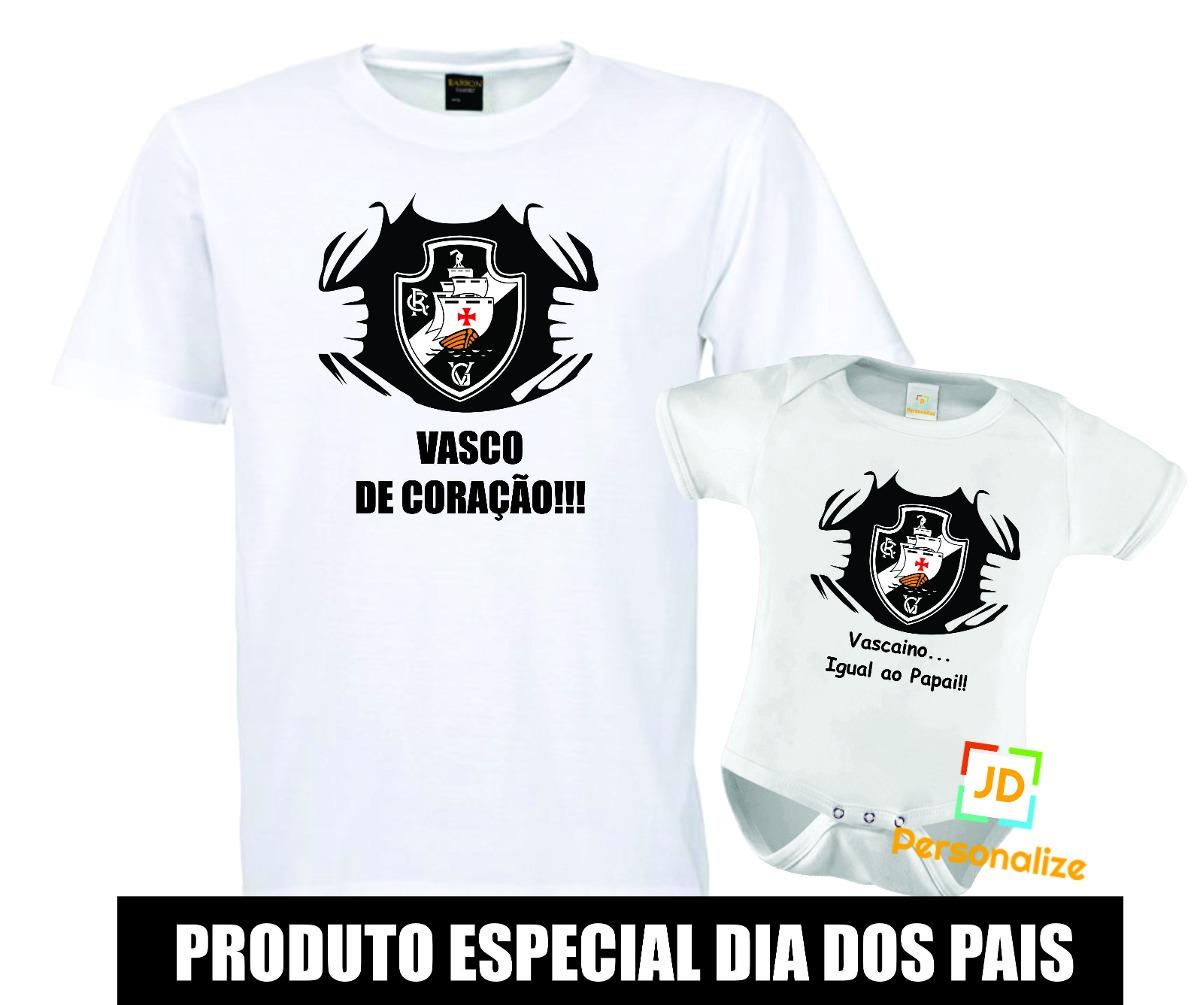 Kit Pai E Filho Dia Dos Pais Camisa Do Vasco Da Gama! - R  59 9cfd1f575cc77