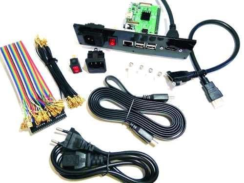 kit painel arcade raspberry pi 3 com tomada, cabos e gpio