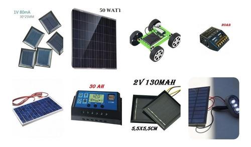 kit painel placa energia solar fotovoltaica 50w+10w  60w
