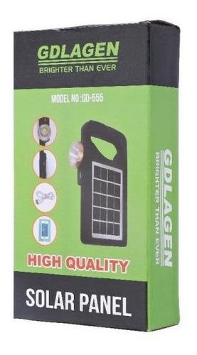 kit painel placa solar com lanterna e power bank celular