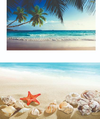 kit painel praia 2,0x1,5 + frente de mesa + tapete+ kit  (2)