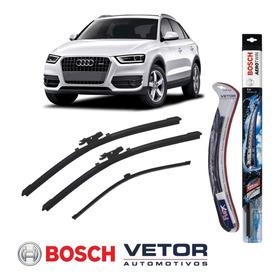 Kit Palheta Dianteira Bosch + Traseira Vetor Audi Q3 13 À 18