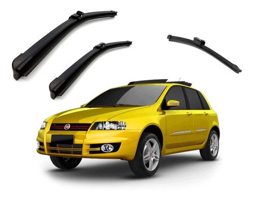 kit palheta limpador parabrisa dianteiro+traseiro fiat stilo