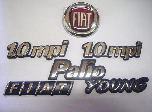 kit palio young + 2x 1.0mpi+ mala + capo vermelho 01/02- bre