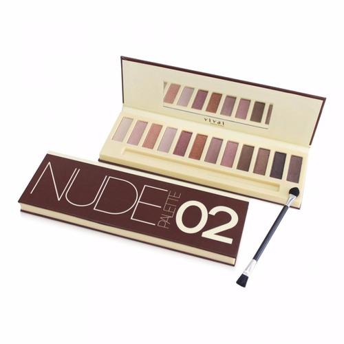 kit pallete nude 01+02 vivai 24 cores sombras 2 estojos