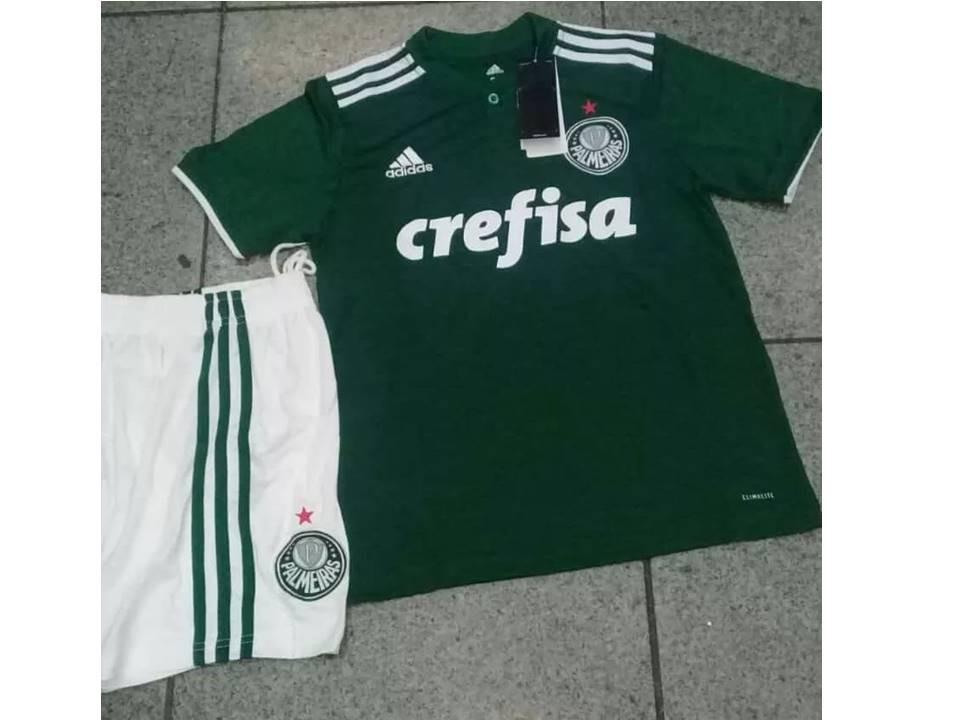kit palmeiras camisa shorts infantil 2018 novo verde adidas. Carregando  zoom. b395120484a06