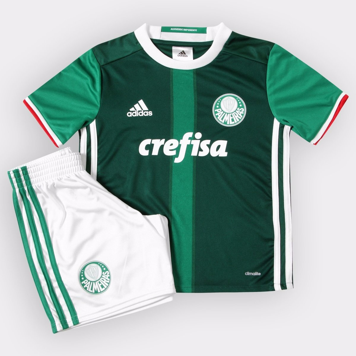 7ffbe2aa4c Kit Palmeiras Infantil adidas I 17 18 - Ai9194 - R  149