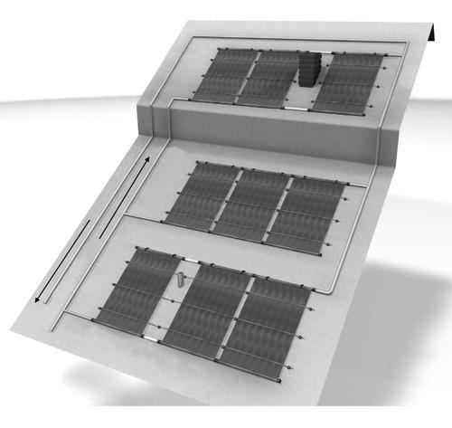 kit panel climatizador para piscina piletas 2x5m - enertik