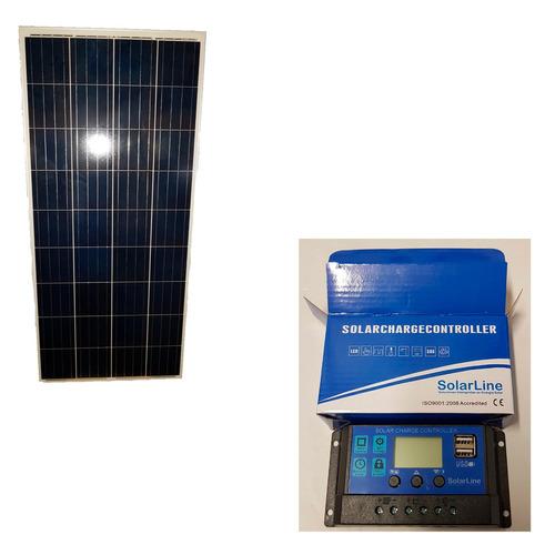 kit panel solar 150wp + regulador 20 amper p/ iluminacion