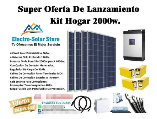 kit panel solar hogar 2000w