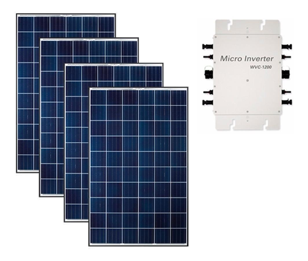 Kit Panel Solar Interconexion Cfe De 5 Kw Diarios 120v