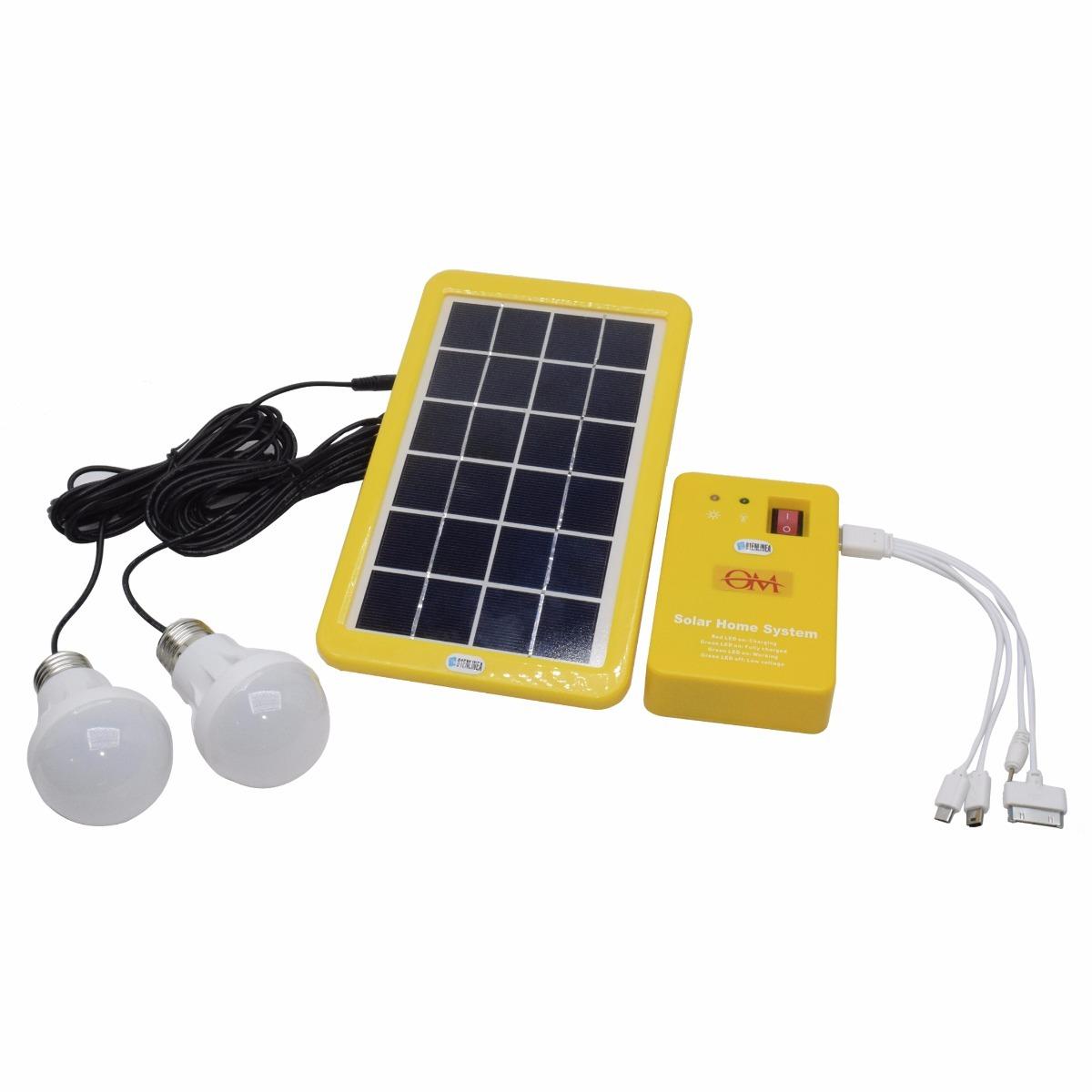 8f235940fa4a1 kit panel solar portatil 3w + 2 lamparas led cargador usb. Cargando zoom.