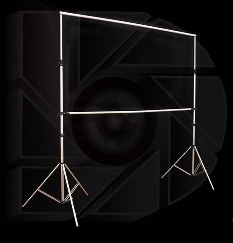 kit pantalla proyeccion 100 4:3 o 106 16:9 + estructura 3x3