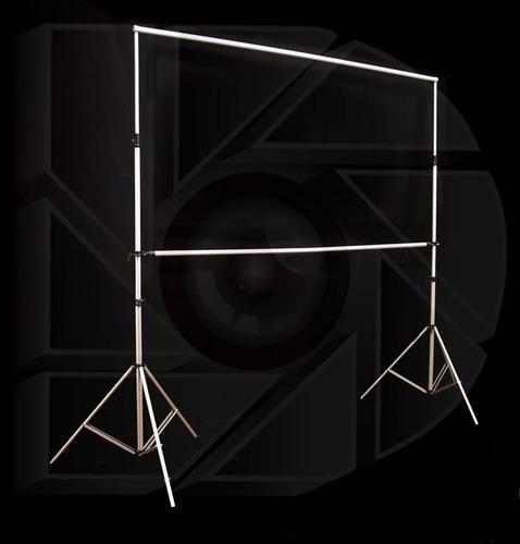 kit pantalla proyeccion 135 pulg 16:9 + estructura 4x3,5 mts