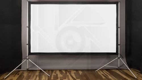 kit pantalla proyeccion 150 pulg  16:9 + estructura 4x4 mts
