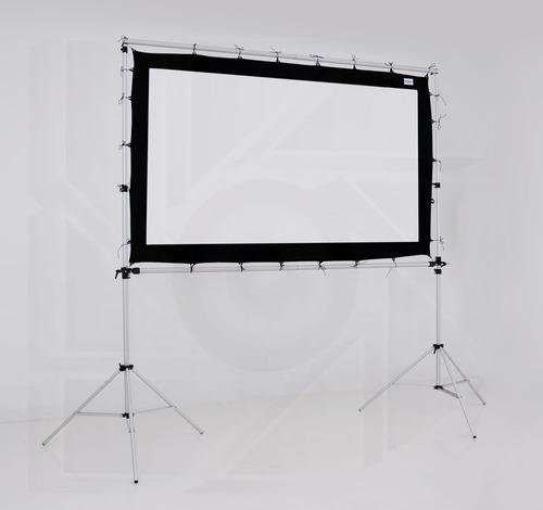 kit pantalla proyeccion 200 pulg 16:9 + estructura 4x5 mts