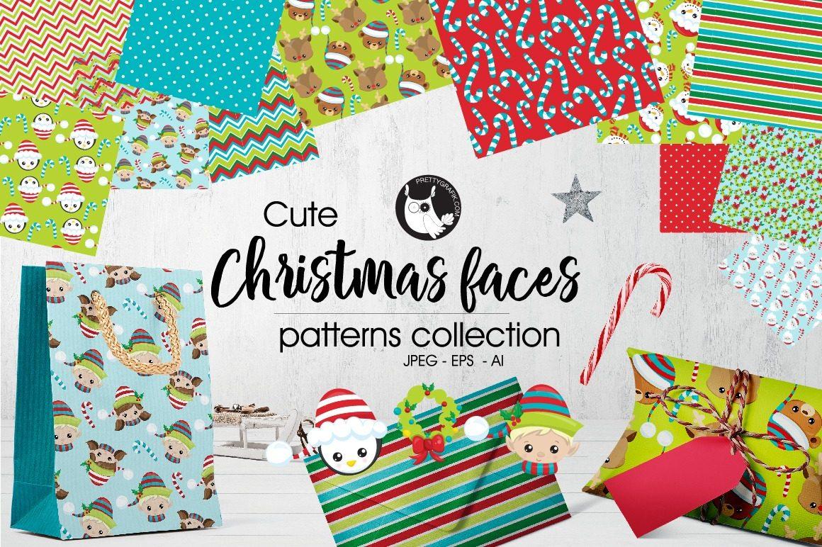 Kit Papel E Imágenes Digitales Navidad Caras Xmas Faces 2 - $ 20,00 ...