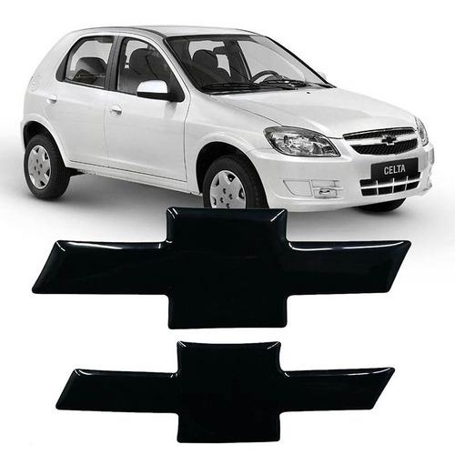 kit par adesivo resinado black piano gravata gm celta 2012