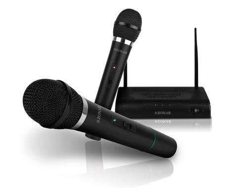 kit par microfonos inalambricos profesionales receptor 6.3mm