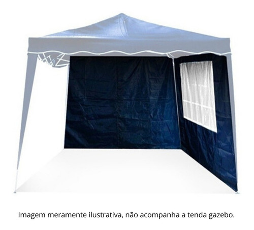 kit par parede  para tenda gazebo articulado 3,00x3,00m azul