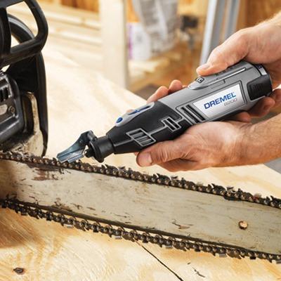 kit para afilar cortadoras y sierra de cadena dremel 679