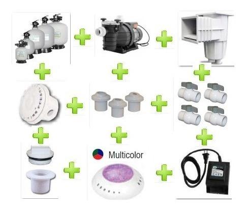 kit para alberca con iluminación led