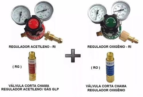 kit para aparelho conjunto de solda ppu oxi-acetileno + vcc