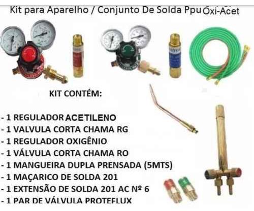kit para aparelho de solda oxigênio e acetileno frete gratis