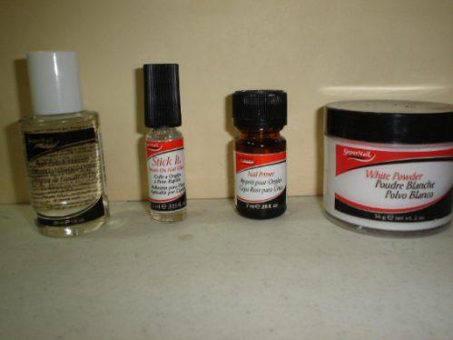 kit para aplicacion de uñas acrilicas, lo basico   vjr
