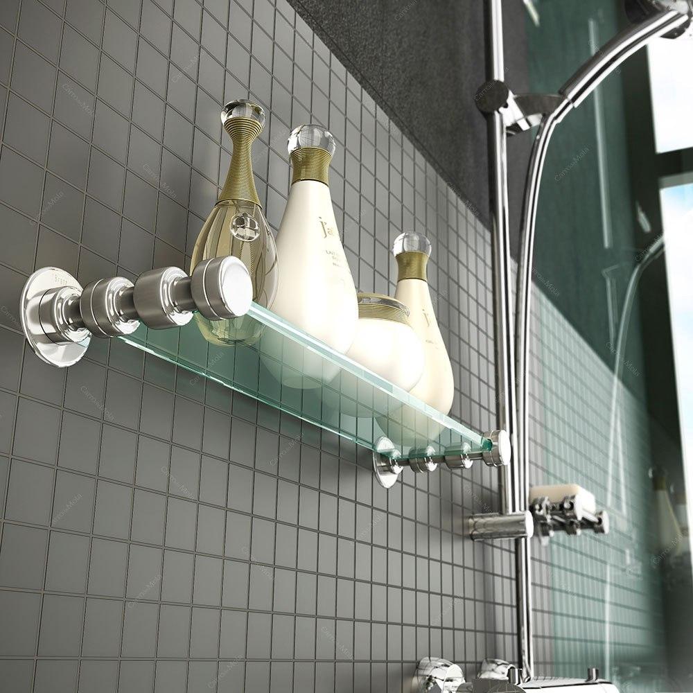 Kit Banheiro Inox Meber : Kit para banheiro pe?as inox e vidro r