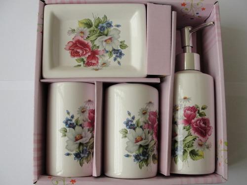 kit para banheiro em ceramica