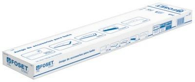 kit para baño de 5 piezas,con toallero de barra foset-basic