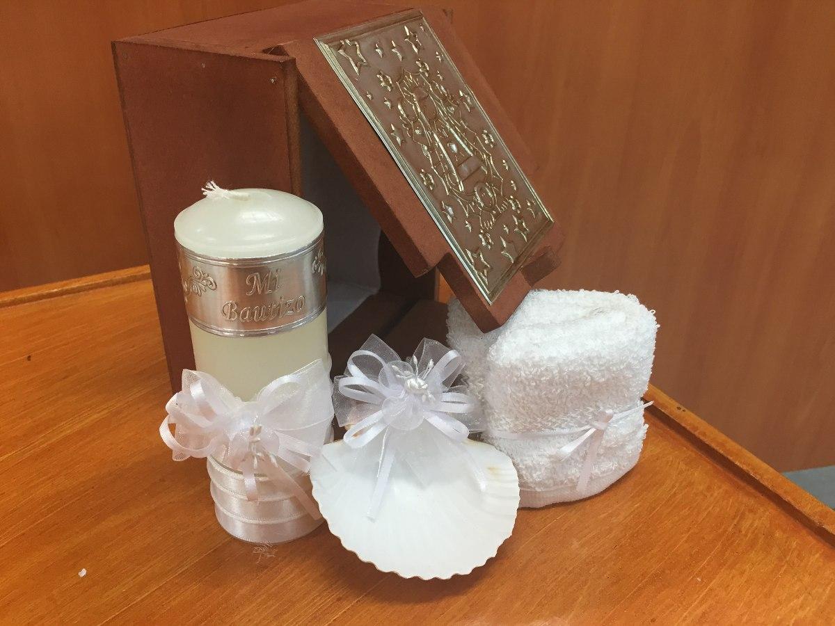 Kit para bautizo vela toalla y concha en for Kit para toldos de enrollar