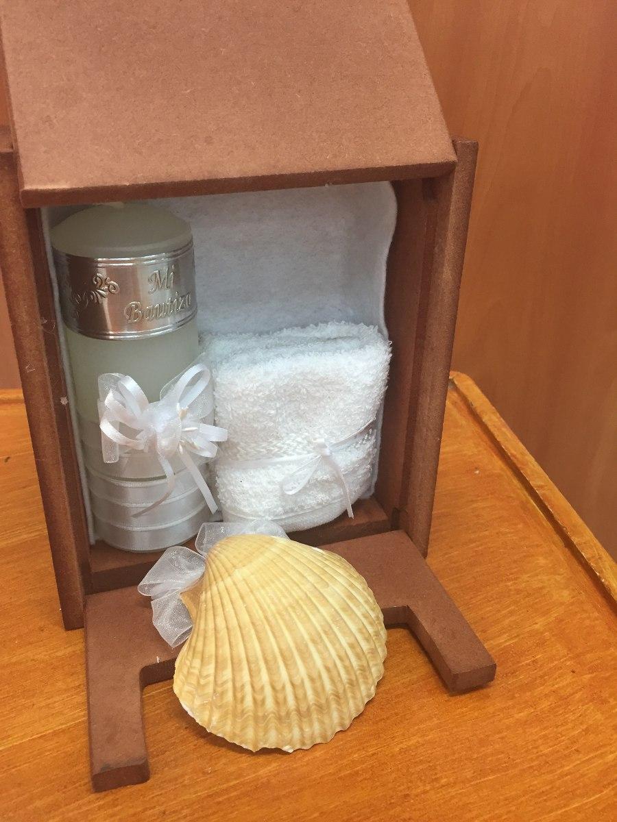 Kit para bautizo vela toalla y concha en - Decoracion de velas para bautizo ...