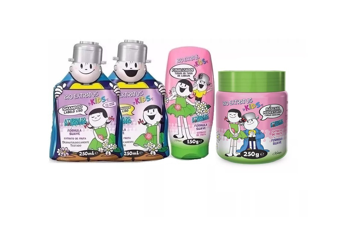 dc459913d Kit Para Cabelos Liso Kids Bio Extratus 4 Produtos Infantil - R$ 99,98 em  Mercado Livre