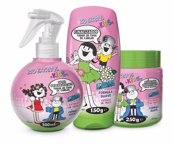 abc2fcdc8 Kit Para Cabelos Liso Kids Bioextratus 5 Produtos Infantil - R$ 119 ...