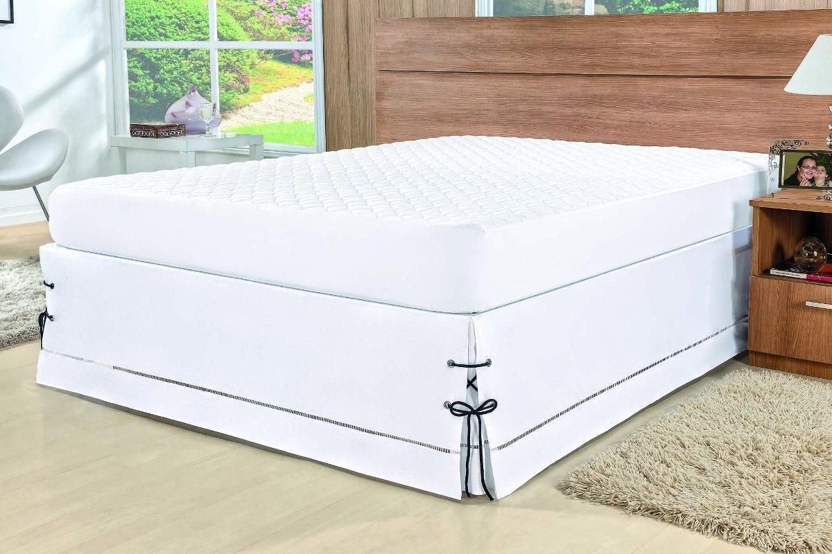 f6fe4a9d2 kit para cama box queen - protetor de colchão + saia box. Carregando zoom.