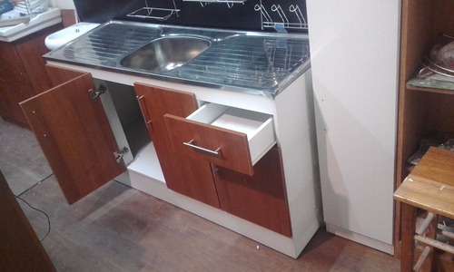 kit para cocina: bajo + aéreo + pileta / 1,50 m.