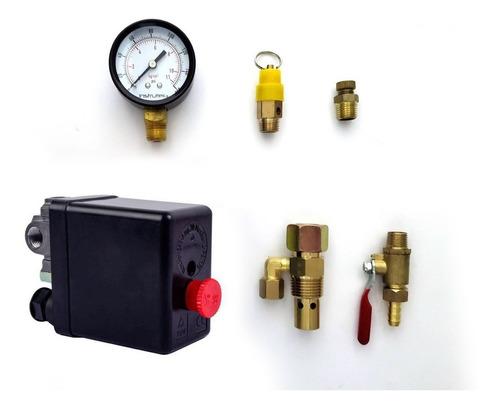kit para compresor con switch tipo nema (botón rojo) 4 vías