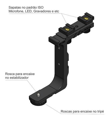 kit para dji osmo mobile 2  - suporte para led + 1 led