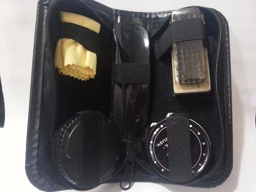 kit para engraxar sapatos