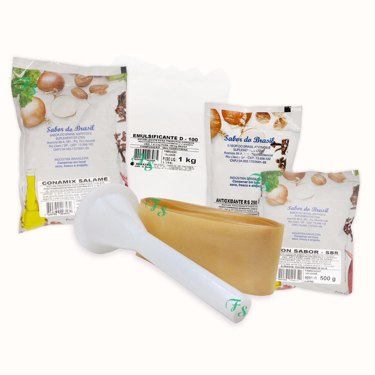 d143dcc0ee Kit Para Fazer Salame Italiano  Tripa