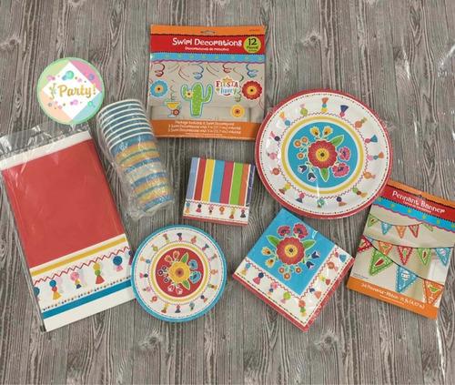 kit para fiestas manteles,vasos,servilletas y otros
