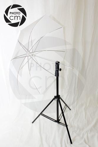 kit para fotografía tripie + bracket + sombrilla
