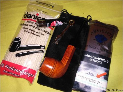 kit para fumar en pipa completo nº8 precio único mira! brezo
