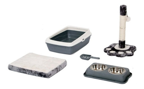 kit para gato plato , sisal pala , cama platos agua comida