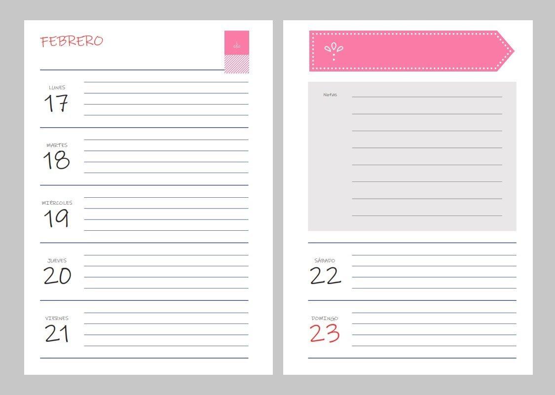 Calendario Febrero 2020 Para Imprimir Pdf.Kit Para Imprimir Planificadores Y Agenda 2020 Pdf