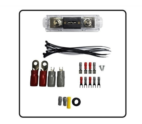 kit para instalar amplificador planta carro #0 fusible anl