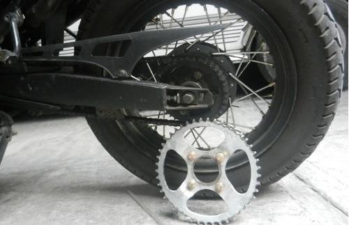 kit para italika dm 150 mas velocidad final sprocks cadena